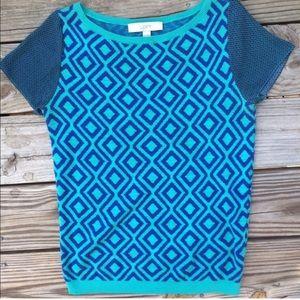 LOFT xs short sleeve sweater